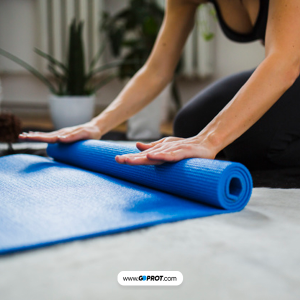 Tapis Fitness Bleu 10 mm Compete